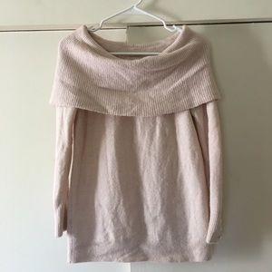 Loft Blush Off the Shoulder Sweater